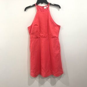 {GAP} Coral Pink Embroidered Linen Dress